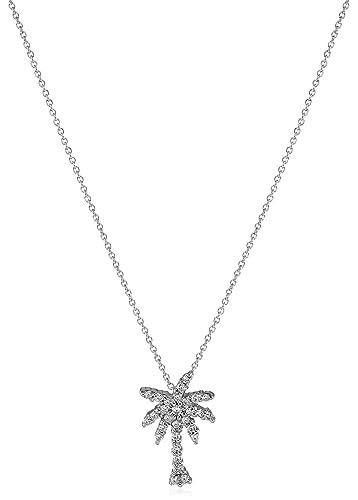 Amazon 18k white pave diamond palm tree tiny treasure necklace amazon 18k white pave diamond palm tree tiny treasure necklace jewelry aloadofball Image collections