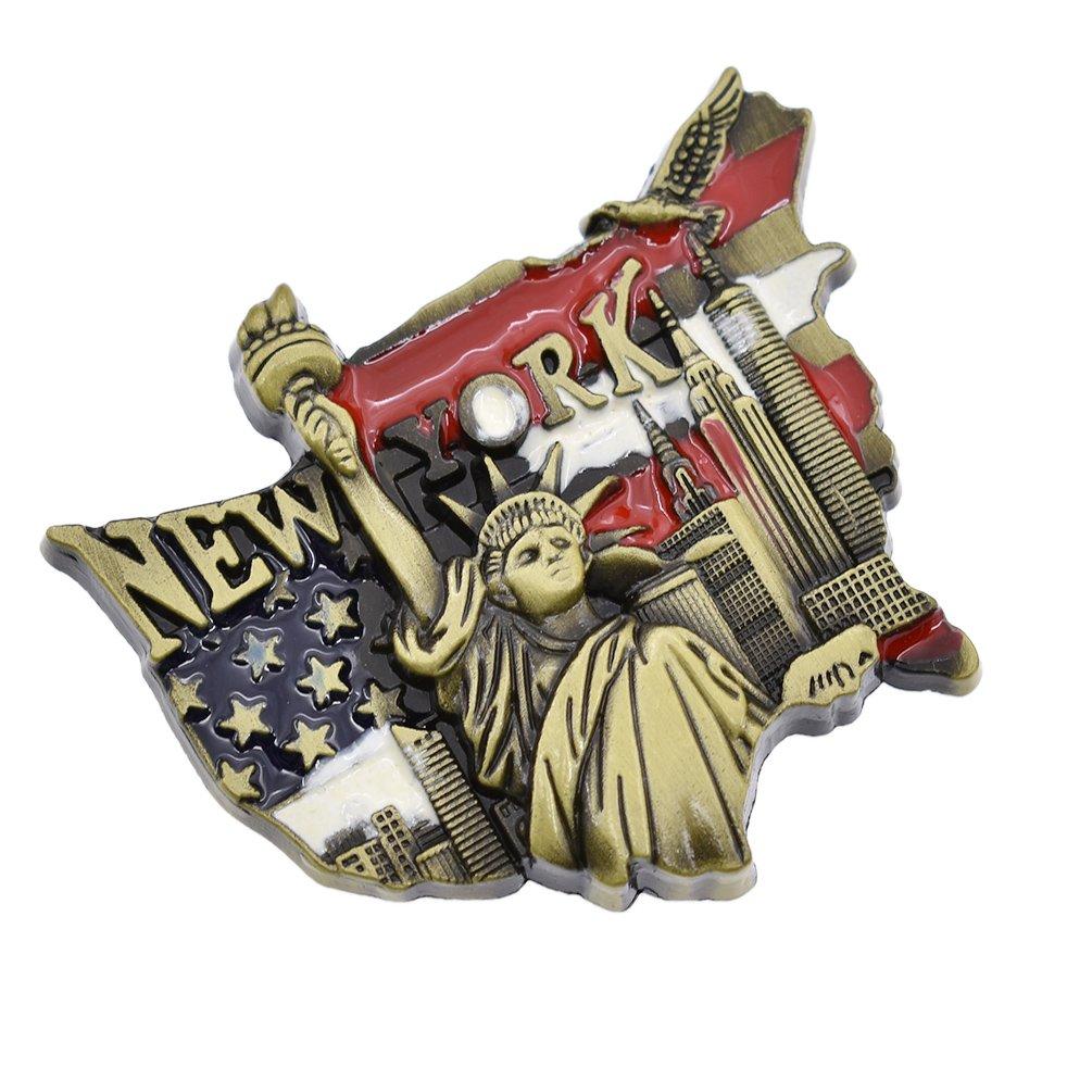 YNuth 3D Magneti per Frigoriferi Calamite da Frigo Calamite per Frigorifero Statua della Libertà New York Souvenir Fridge Magnet