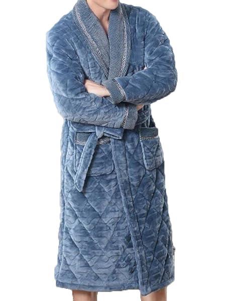 Pijamas De Otoño Y El Invierno De Los Hombres De La Casa De Ropa Caliente Espesamiento