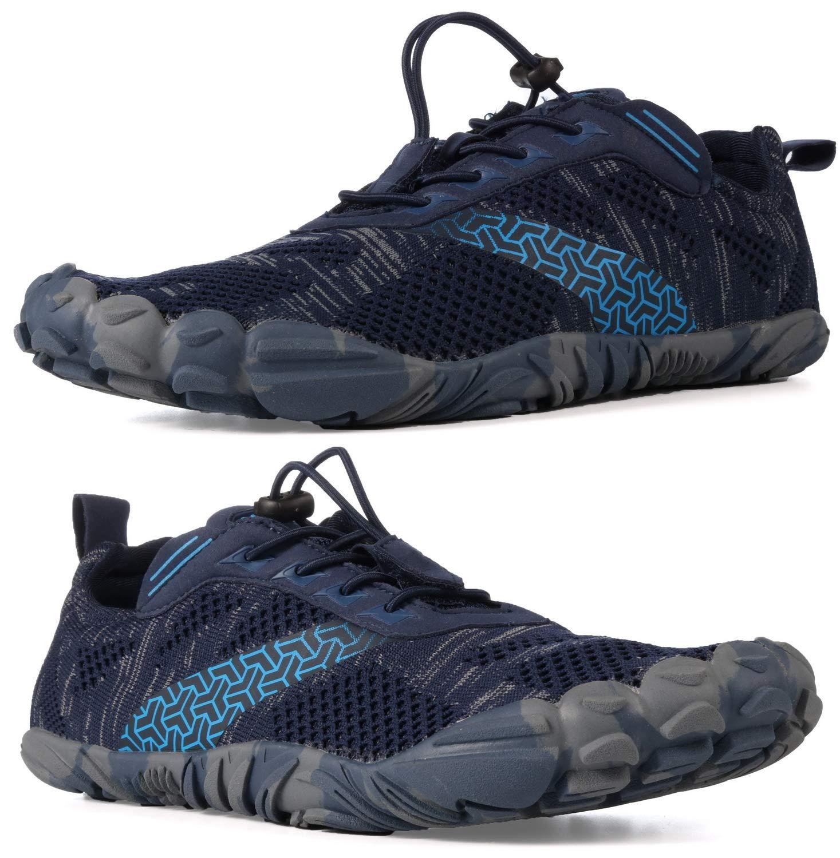 best service 7fb74 48835 WHITIN Men's Trail Running Shoes Minimalist Barefoot 5 Five Fingers Wide  Width Toe Box Gym Workout Fitness Low Zero Drop Male Parkour Road Sport ...