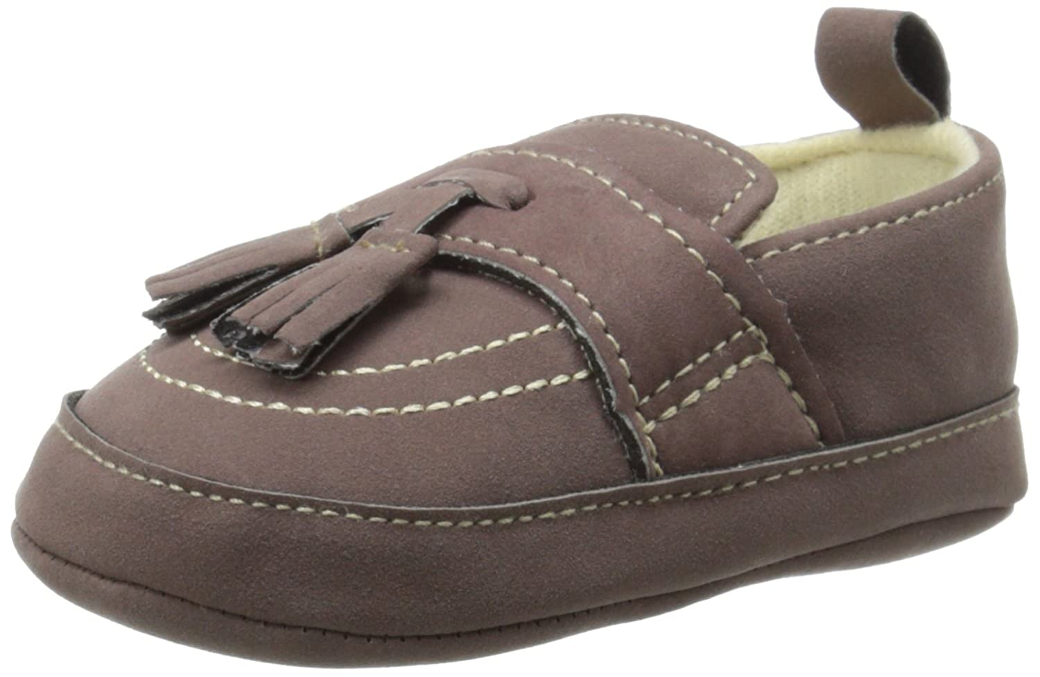 Little Me Suede Tassel Loafer Loafer (Infant), Brown, 9-12 Months M US Infant