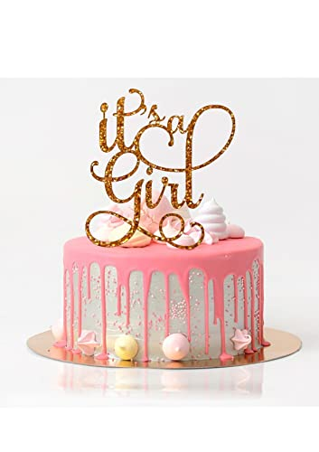Amazon Its A Girl Cake Topper Baby Shower Cake Topper Rose