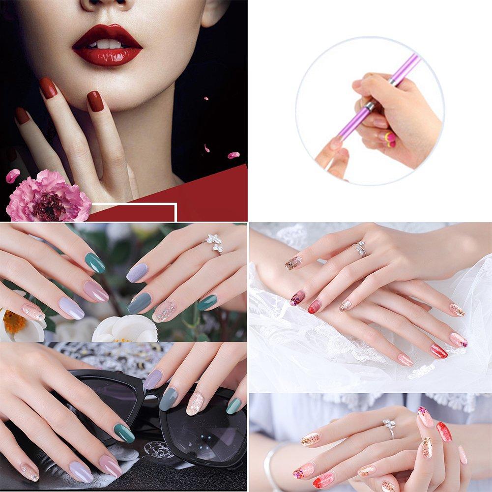 3pcs C-Curva Sticks tubo de metal de uñas de manicura Francesas Uñas de la herramienta del arte (Negro): Amazon.es: Belleza