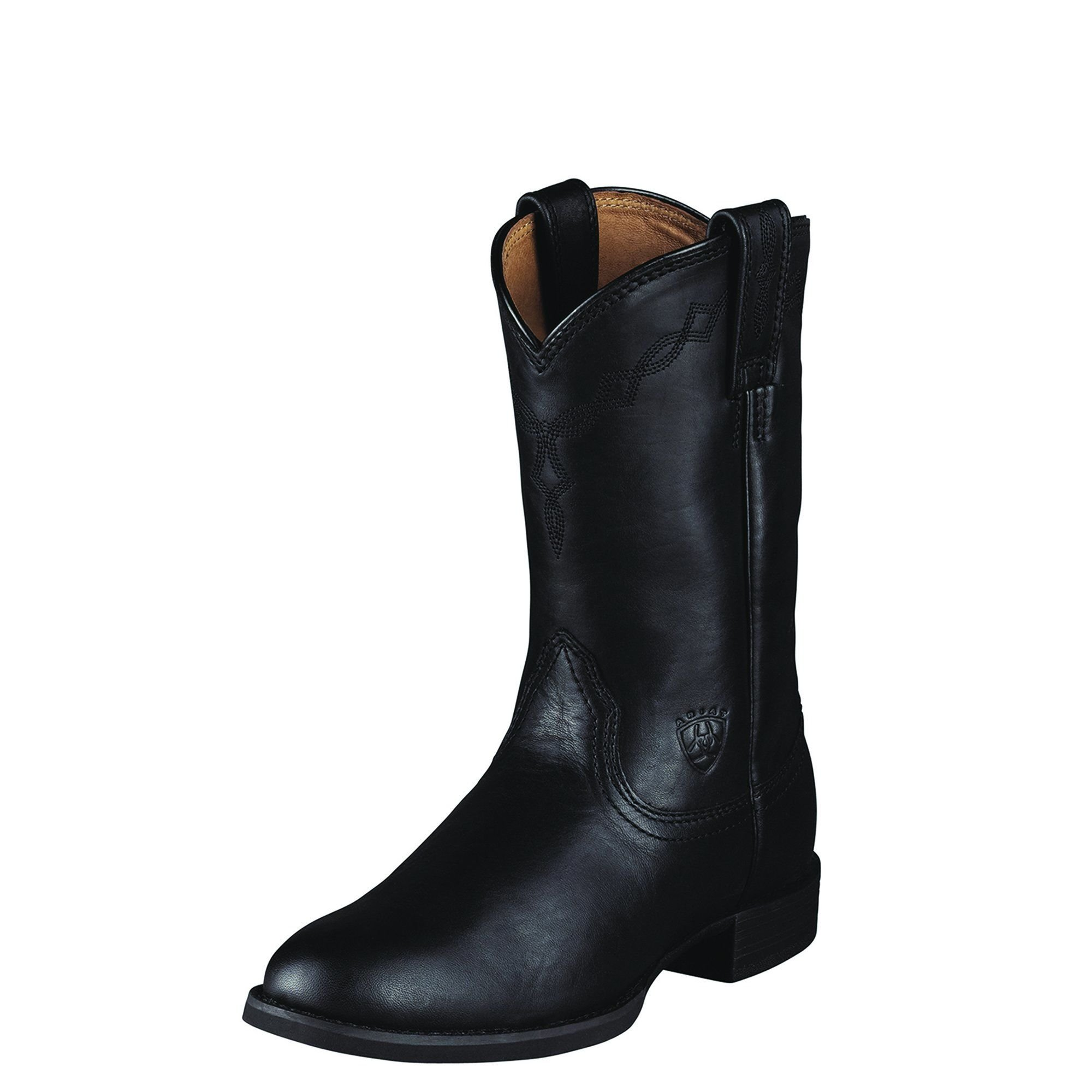 Ariat Women's Heritage Roper Western Cowboy Boot, Black, 10 C US