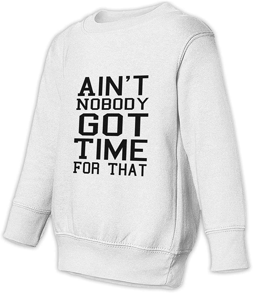 wudici Aint Nobody Got Time for That Boys Girls Pullover Sweaters Crewneck Sweatshirts Clothes for 2-6 Years Old Children