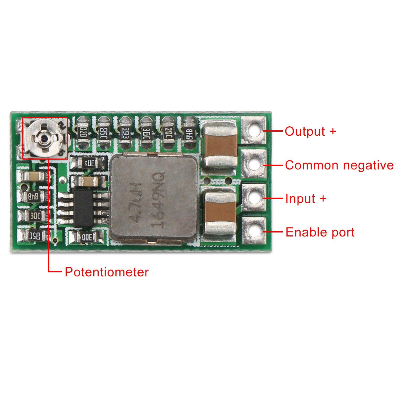 Drok 5 Pcs Dc Step Down Variable Voltage Regulator 36v 3v To 24v Power Supply Electronic Circuits Home 12v 5v 33v Buck Converter Volt Stabilizer Car Battery Adjustable