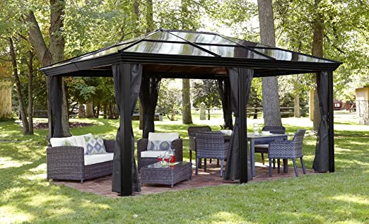 Keep Your Guests And Family Cool And Comfortable On Hot Summer Days With  This Hard Top Gazebo That Boasts A Generous 12u0027x16u0027 Size.