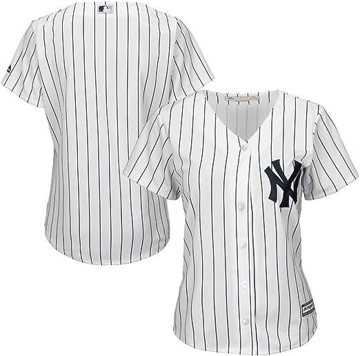 VF New York Yankees MLB Majestic - Camiseta de manga corta para mujer (talla grande), color blanco, 3X, Blanco: Amazon.es: Deportes y aire libre