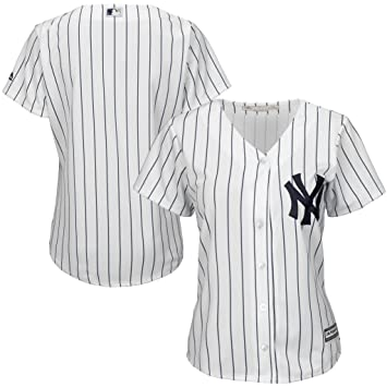 New York Yankees MLB Majestic Womens Cool Base Jersey White Plus Sizes (1X)