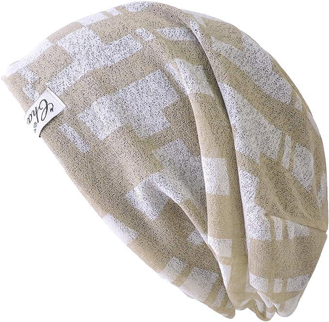 Casualbox Organico Cotone Cappello A Tesa Larga Beanie Berretto Fatto in Giappone Grande Morbido Estate Cappello Raffreddamento Beanie Berretto per Uomo /& Donna Cancro Chemio Moda
