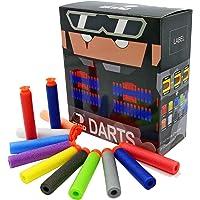 "EKIND 100Pcs ""Suction"" Darts for Nerf N-Strike Elite Blaster (10 Different Colors)"