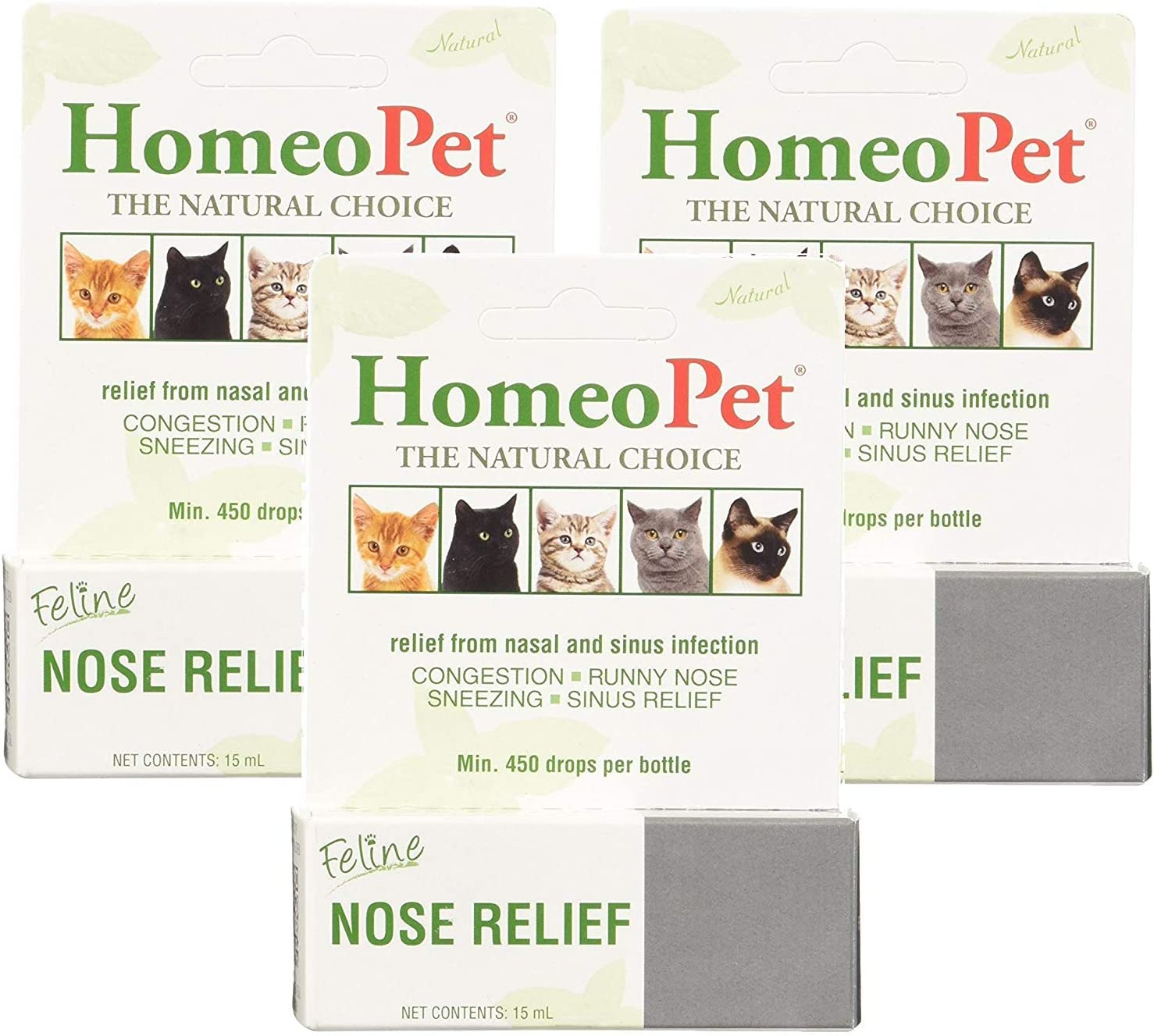 (3 Pack) Homeopet Feline Nose Relief, One Size 71LRso5whvL