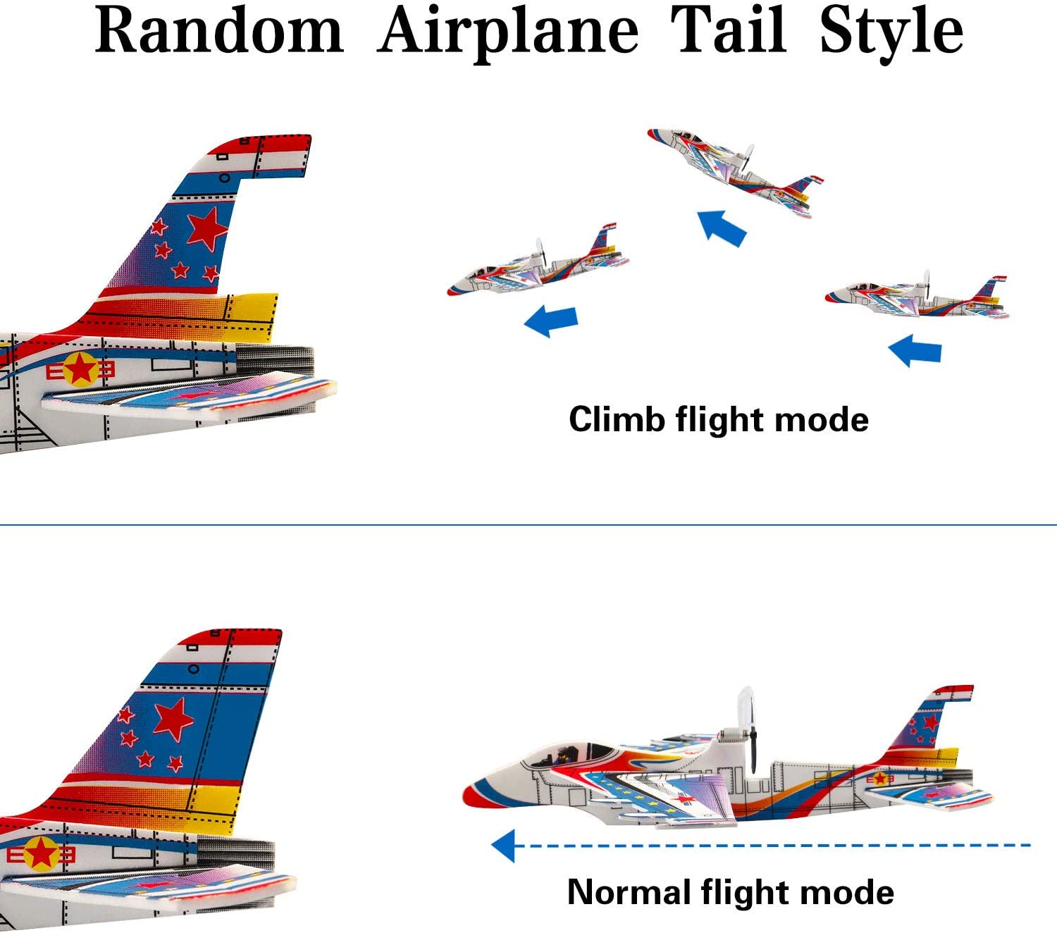 Toy Planes for Boys 5-9 Year Old Foam Glider Plane Age 6 Airplane Activities for Kids 8 Year Old Backyard Toys for Kids Entertainment Age 7 Air Patroller Plane Toy