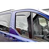 UKB4C Tinted Pair Front Window Acrylic Wind Deflectors Set Transit Custom