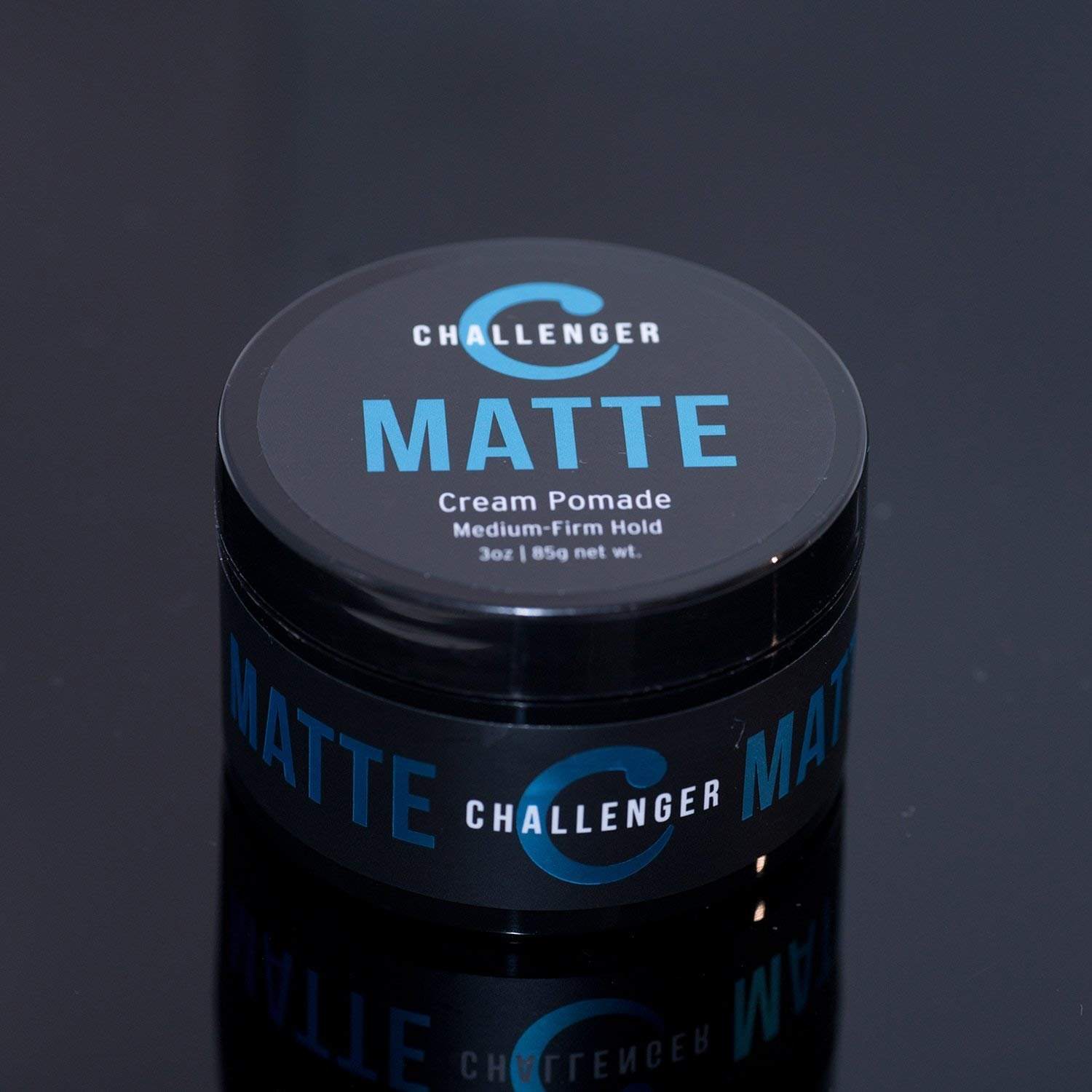 Matte Cream Pomade - Challenger 3oz - Medium Firm Hold - Water Based, Clean & Subtle Scent, Travel Friendly. Men's Hair Wax, Fiber, Clay, Paste, Styling Cream All In One by Challenger (Image #5)
