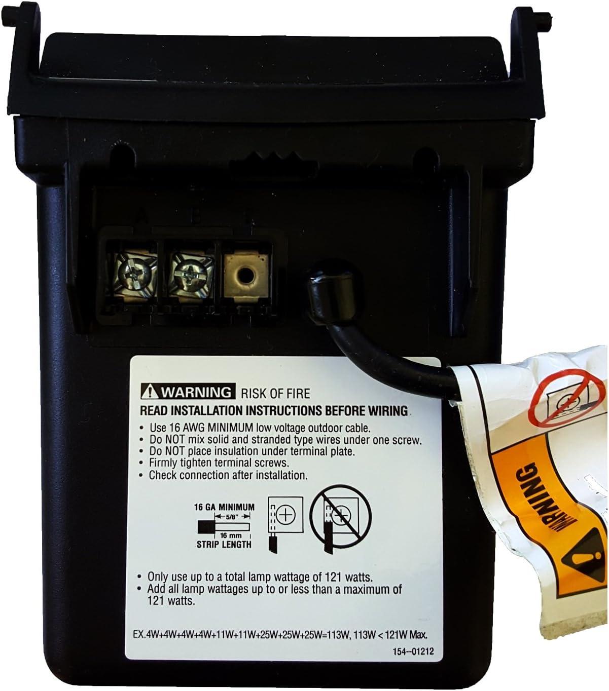 Malibu Ml121rt 121 Watt Low Voltage Power Pack Transformer Lighting Accessories Black Matte Low Voltage Transformers Lighting Ceiling Fans Lighting Accessories