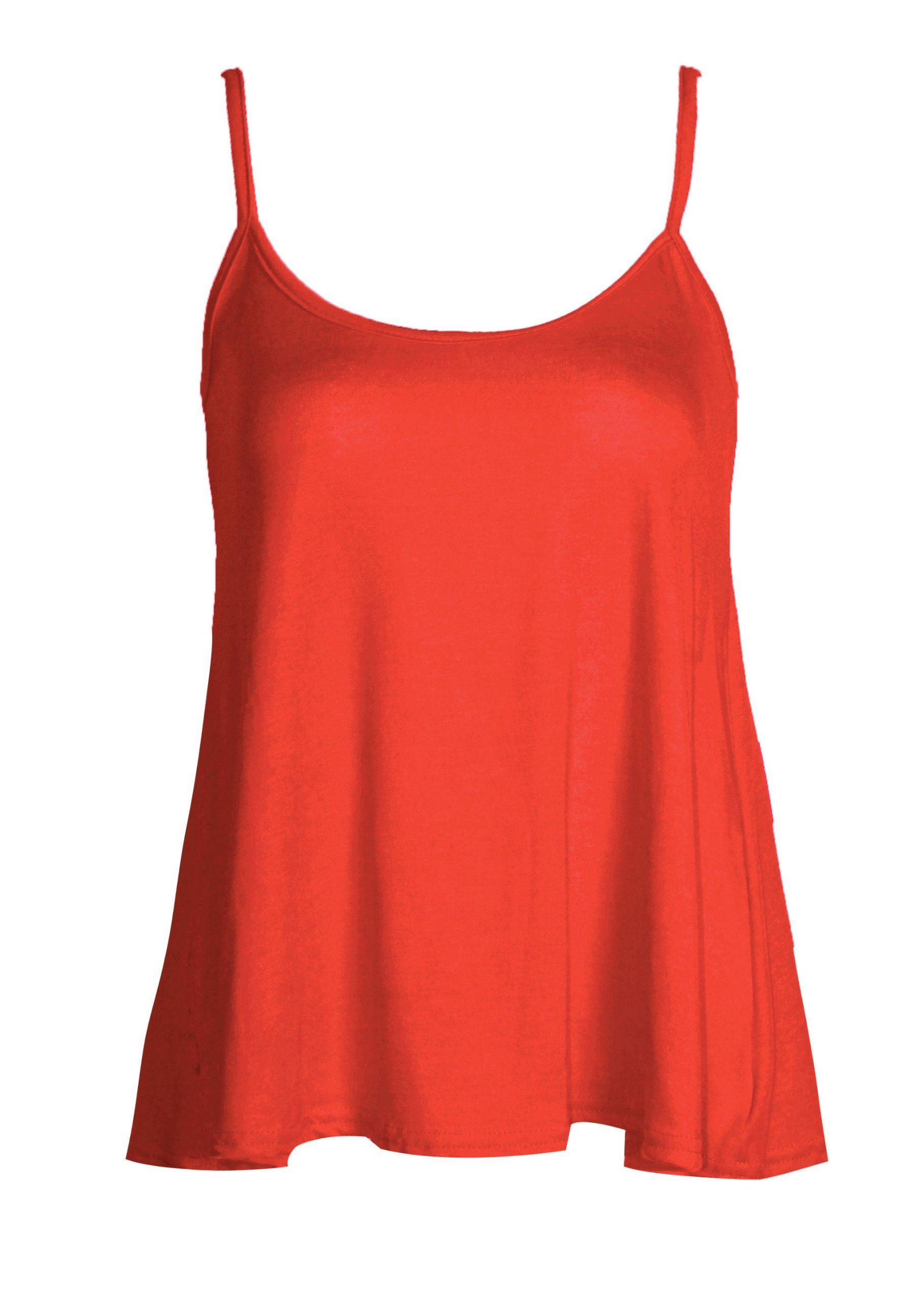 Forever Womens Sleeveless Plain Viscose Jersey Swing Cami Vest Top