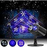 Proiettore Luci LED Natale, Proiettore Fiocchi di Neve Star Spotlight di Paesaggio Lampada LED per la Festa Natale o Il Matrimonio o la Decorazione di Party Luce Giardino Festa [Classe energetica A++]