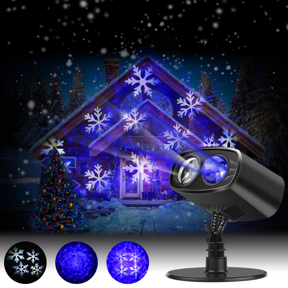 Halloween LED Snowflake Projector Light Christmas Decorations Light Indoor Outdoor Waterproof Landscape Light for Theme Party for Christmas, Wedding Party, Valentine's Day, Mother's Day [Energy Class A++] [Energy Class A++] Valentine's Day EECOO