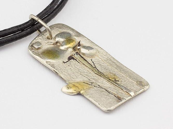 Anhanger Blume 925 Silber Halsband Leder Ausgefallener Schmuck