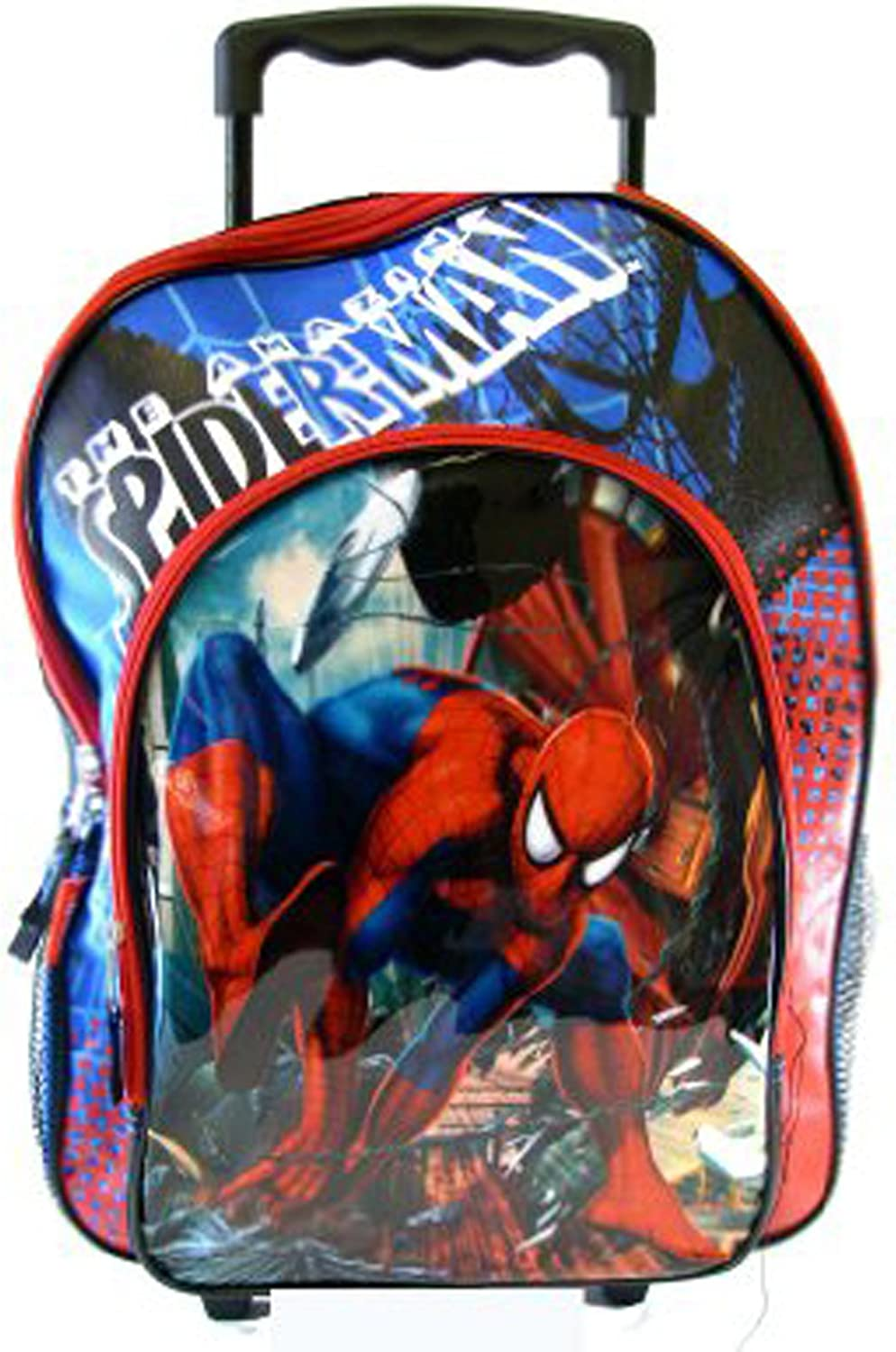 "Spiderman Luggage with Wheels Spider-man Rolling 16/"" Backpack"