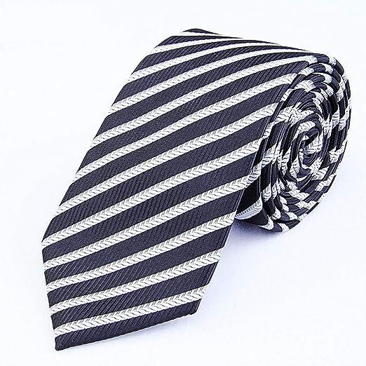 Littlefairy Hombre Designer Corbata,Corbata a Rayas Blanco y Negro ...