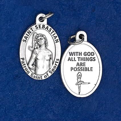 Amazon.com: HLT St. Sebastian medalla para danza: Sports ...