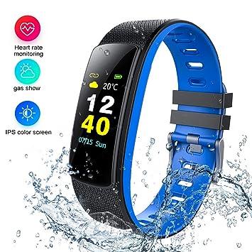 Fitness Reloj de Pulsera con pulsómetro Resistente al Agua IP67 Fitness Tracker Actividad Tracker Pulso Relojes Bluetooth Smart Reloj de Pulsera para iPhone ...