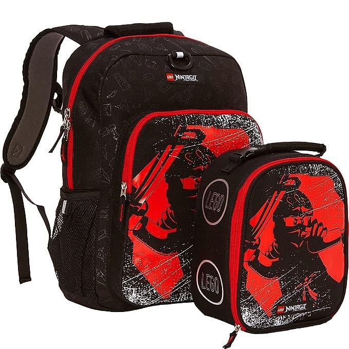 LEGO NINJAGO Red Ninja Backpack & Lunch (Black)