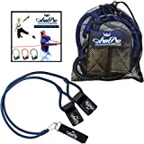 Arm Pro Bands - Resistance Training Bands for Baseball and Softball Arm Strength and Conditioning. Available in 3 Levels (Youth, Advanced, Elite). Anchor Strap, Travel Bag, Digital Training Downloads