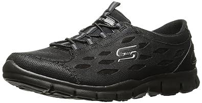 SKECHERS 22774 SIMPLY SERENE Schuhe der schwarzen Frauen rutschen auf elastischem Memory-Foam