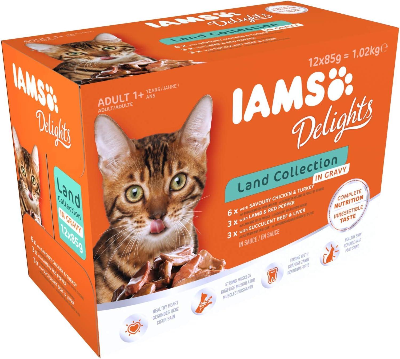 IAMS Delights Gato Adulto Colección Tierra en Salsa [1,02 kg]