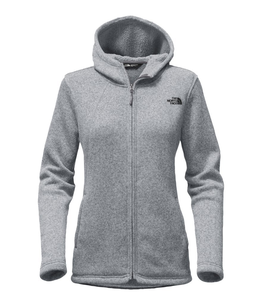 The North Face Women's Crescent Full Zip Hoodie - TNF Medium Grey Heather - XL (Past Season)
