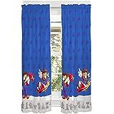 "Franco Kids Room Window Curtain Panels Drapes Set, 82"" x 63"", Super Mario"