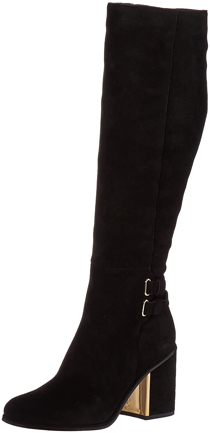 Calvin Klein Women's Camie Engineer Boot Suede B01DXIQN4M 5 B(M) US|Black Suede Boot fe720a