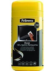 Fellowes 9970311 Salviette per Pulizia Schermo, Confezione da 100 Pezzi