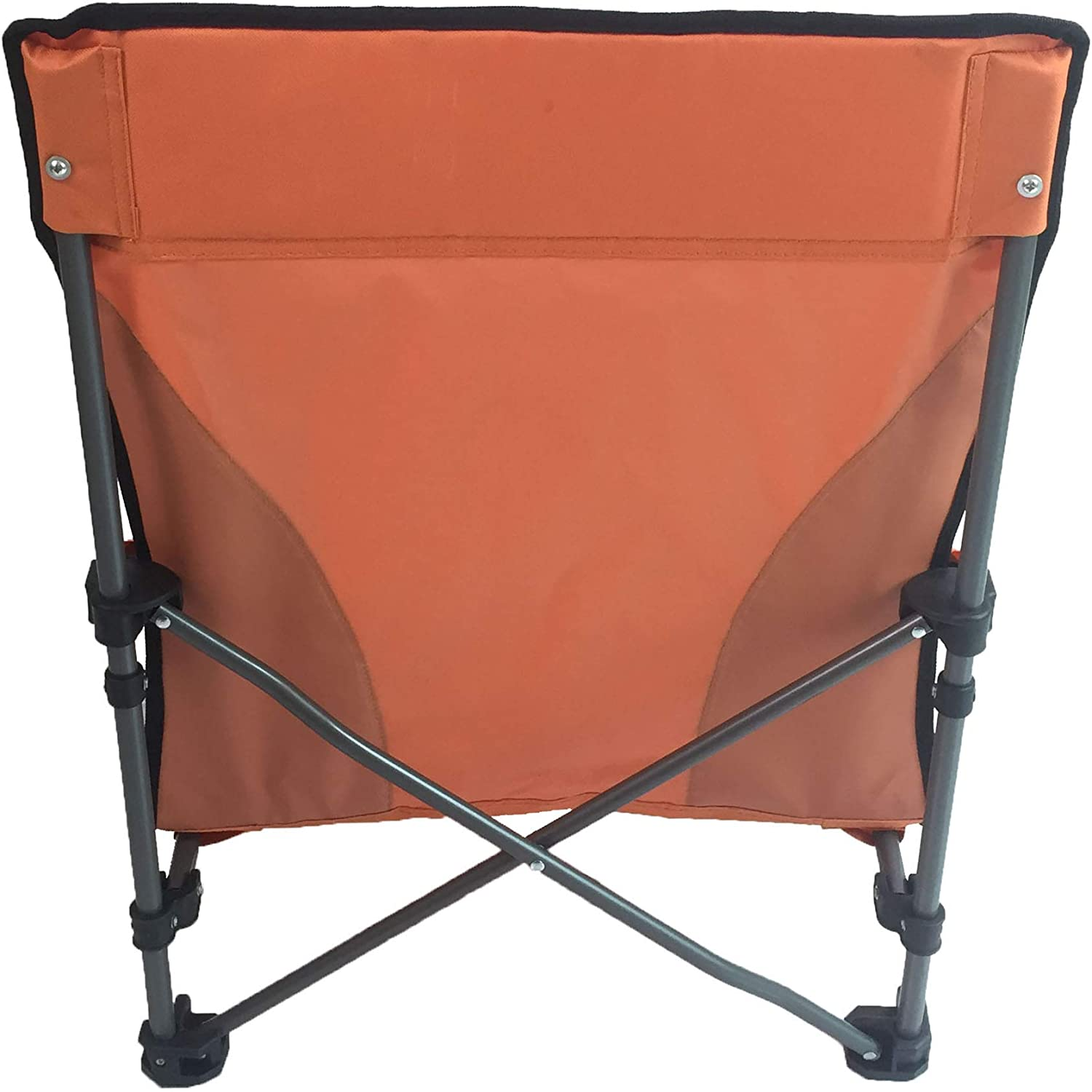 Chill Time RPBC2P Low Profile Beach Chair 2 Pack with Backpack Carrying CASE Orange//Grey