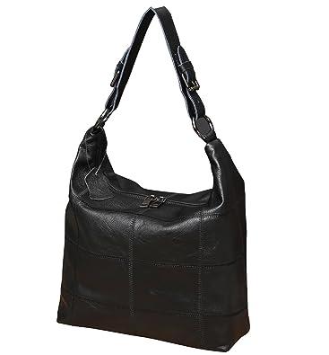 955f0e62fda4 Amazon.com  Iswee Women Leather Shoulder Bag Vintage Cross Body Bag Hobo  Bag Handbag Satchel Purse (Black)  Shoes