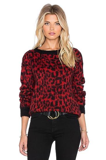 cb9cdbd167e3 Essentiel Antwerp Kyafla Animal Print Sweater, Red, Size Large at ...