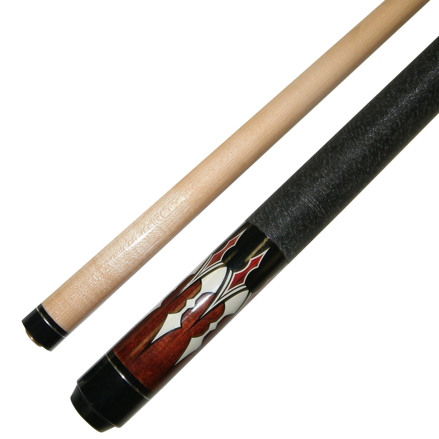"Short 48"" 2 Piece Hardwood Maple Pool Cue - Billiard Stick Several Colors To Choose From 18 Or 19 Ounce"