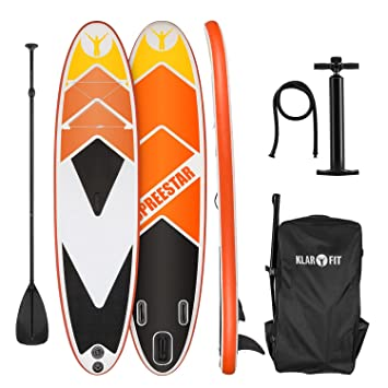 KLARFIT Spreestar 325 Tabla de pie hinchable • Paddleboard • Paddle surf • Tabla SUP 325x15x86