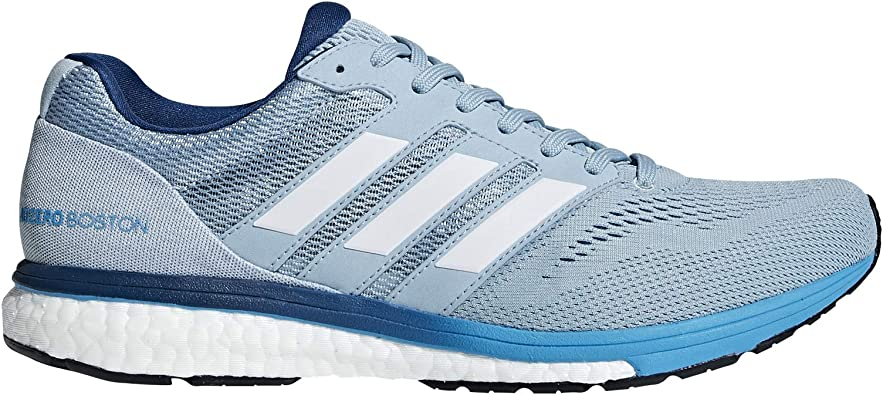adidas Mens Adizero Boston 7 Running Shoes Ash Grey/Cloud White/Shock Cyan: Amazon.es: Zapatos y complementos