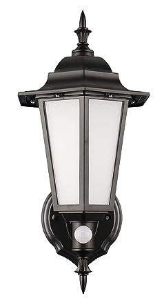Nuevo LED para exteriores farol con sensor PIR, negro construcción de policarbonato