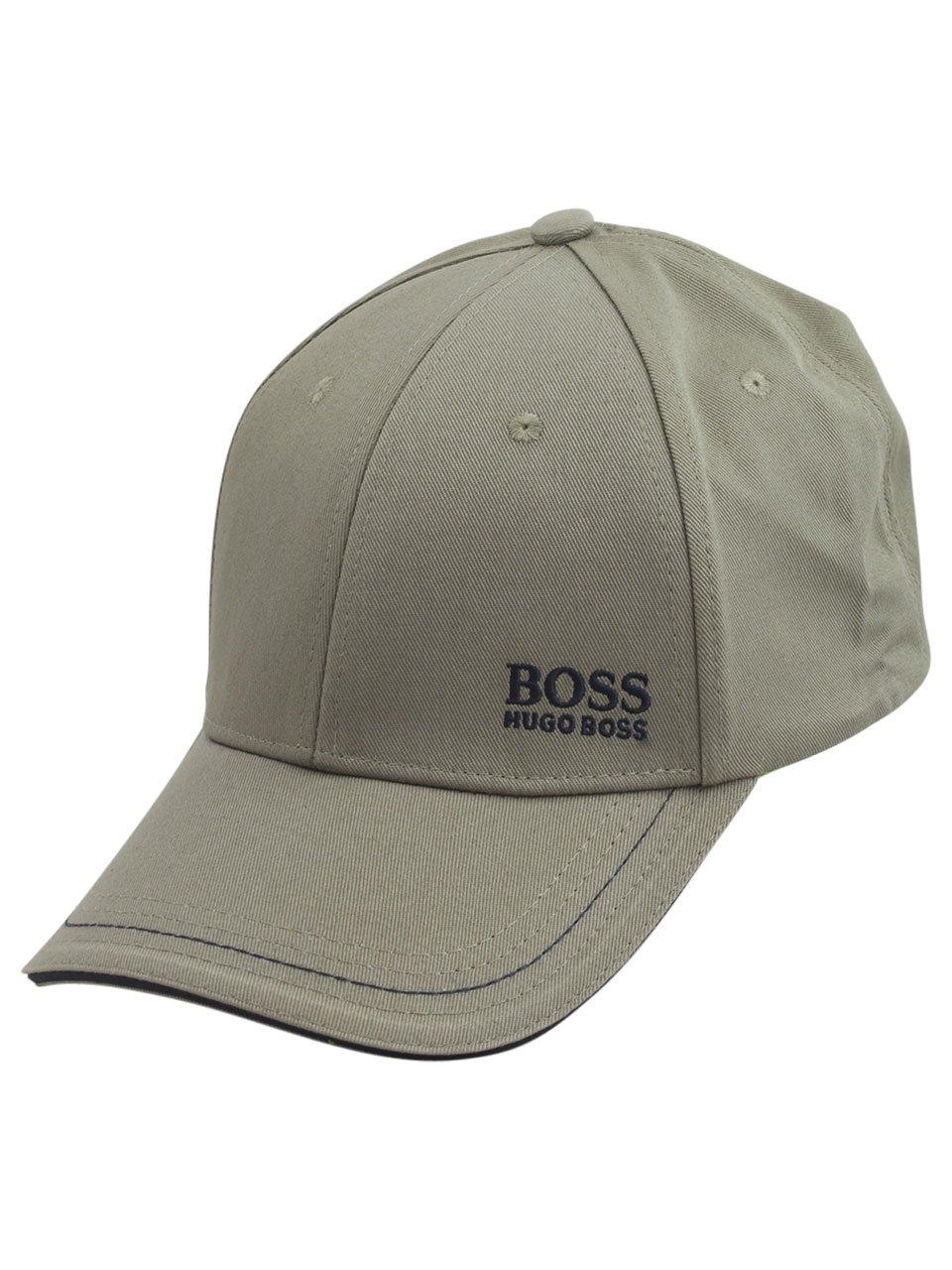 Hugo Boss Cap-1 Open Green Cotton Strapback Baseball Cap Hat (One Size Fit Most)