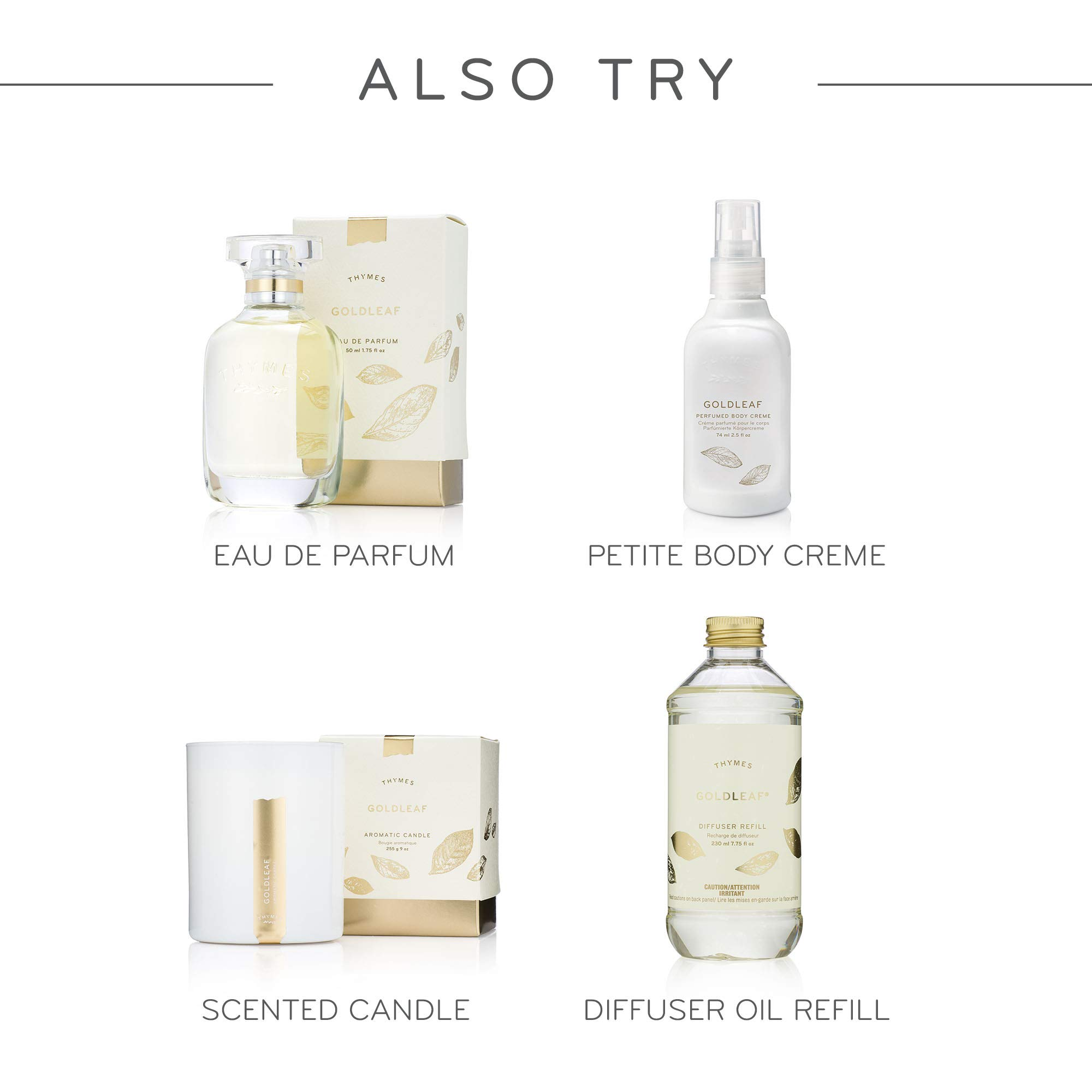 Thymes - Goldleaf Home Fragrance Mist (2-Pack) with Free Vetiver Rosewood Sample Pack- Elegant Floral Scented Room Spray - 3 oz by Thymes (Image #5)