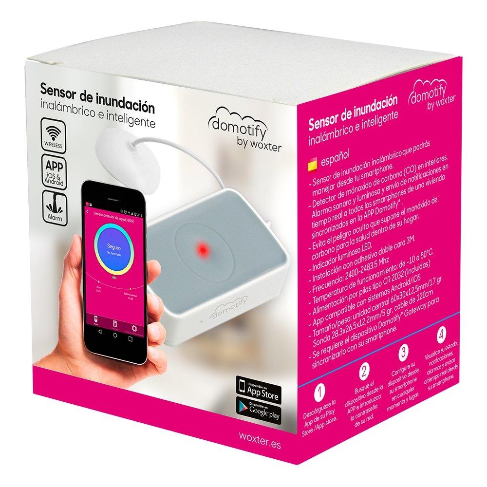 /Rilevatore di allagamento domotify Sensore Allagamento/ accessorio di controllabile wireless e intelligente colore: bianco