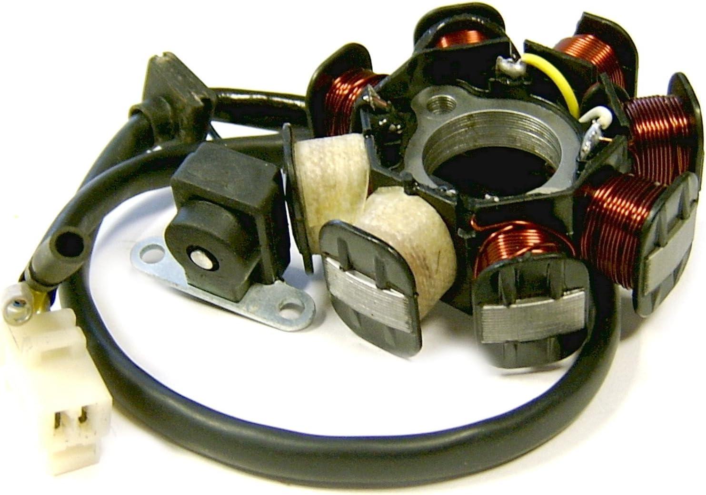 Polrad 8-Spulen 139QMB 50ccm 4-Pin Chinaroller 4-Takt GY6 Lichtmaschine Stator