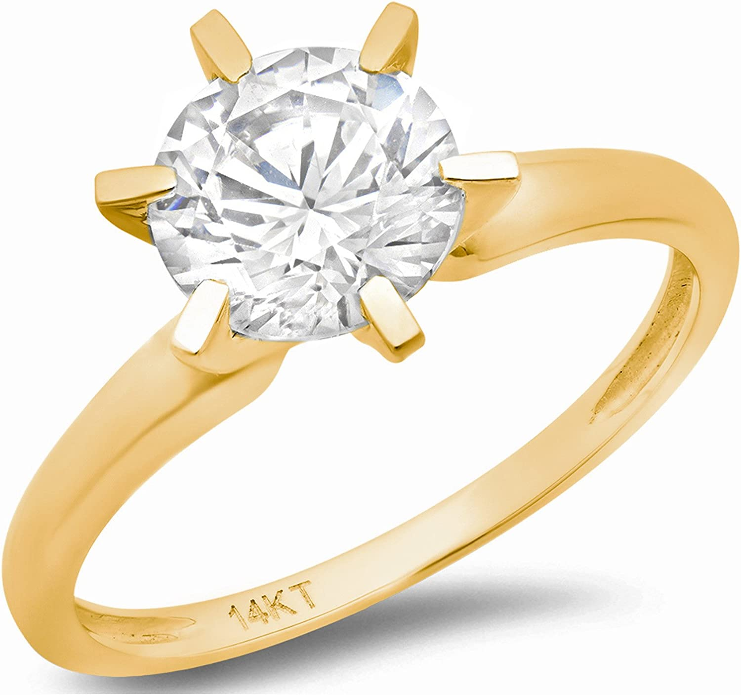 Marquise Diamond Solitaire Ring In 14k Yellow Gold Dainty