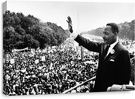 №1 Canvas President Johnson and Martin Luther King Jr Art print POSTER