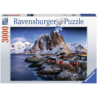 Ravensburger 17081 Hamnoy Lofoten - 3000 Piece Puzzle for Adults, Every Piece is Unique, Softclick Technology Means Pieces Fit Together Perfectly: Toys & Games